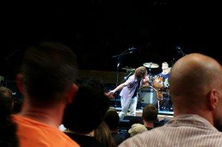Ed through the crowd